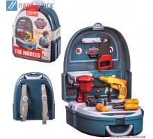 Набор инструментов JH7F704 пила, отвертки, шуруповерт, в рюкзаке 23,5*13,5*26см