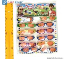 Очки детские на листе 12шт. на листе металик (5-11)