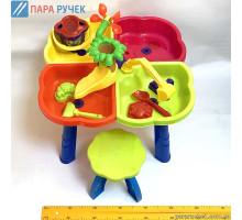 KinderWay.Песочный столик с набором лодочка, паски, стульчик (01-122)