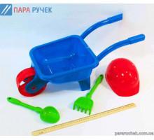 KinderWay.Тачка с каской лопата, грабли (01-125)