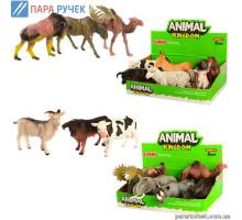 М+Животные 16098ВС дикие, домашние, 6шт в дисплее, 23*14см