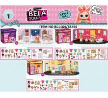 Игровой набор кукла+мебель BELLA DOLLS BL 1164/65/65  в короб.
