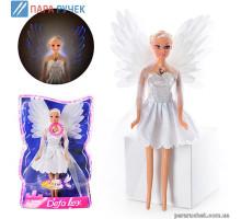 Кукла  DEFA 8219 ангел, свет, в слюде,32*21*7см