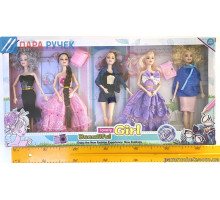 Кукла типа Барби 2103-409 набор 5шт в кор.