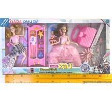 Кукла типа Барби 2103-413 набор 2шт с комодом в кор.
