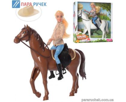 Кукла DEFA 8466 шарнирная с лошадью, в кор. 35*36см