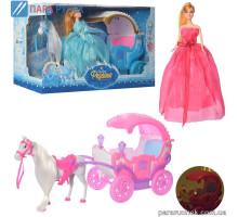 Карета 686-782-785  с лошадкой, свет.. кукла, в кор. 61*33,5*20,5см