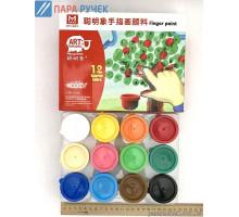 Краска пальчик 12цв. (RFC1235)