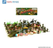 Военный набор М 0273карта, солдаты, техника,флаги,6шт.  в пакете 17,5*27*5
