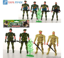 Набор солдат 8008-13-15 (4 шт,) в пакете 19,5*18*2см