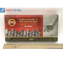Мелки-пастель T.D'OR 12шт. серые оттенки круглая (8522G)