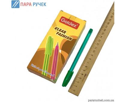 "Ручка 734 Goldex ""Klear Fashion"" зелен. 1,0мм"