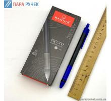 Ручка Radius TRIXO в черном корпусе син.