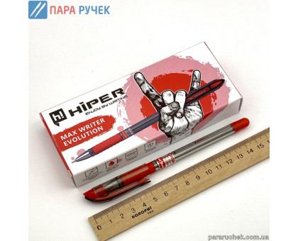 Ручка шарик. Hiper Max Writer Evolution HO-335-ES красная