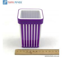 Подставка стакан для ручек в полоску