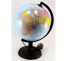 Глобус 22см политичекий с подсветкой