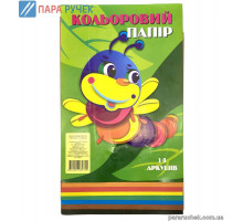 Цветная бумага 14 л А4 (7цв) 052021