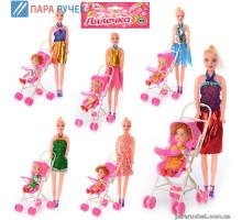 Кукла с коляской и дочкой, микс (68003 А)
