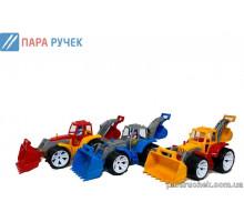 Трактор BAMS 2 ковша цветная кабина 007/8 Бамсик