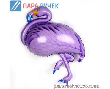 """Шар возд. фольга """"Фламинго"""" фиолетовый 105см.*65см."""