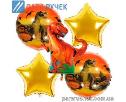"""Шар возд. фольга """"Динозавр"""" 391 н-р 5шт."""
