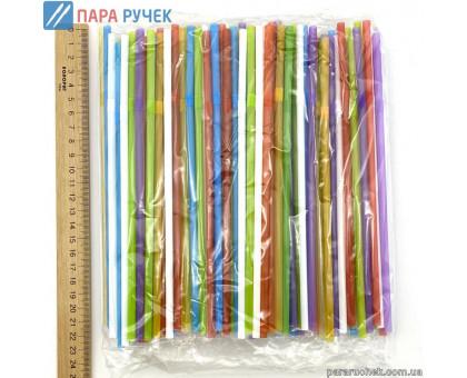 Трубочки для сока цветные (200шт.)