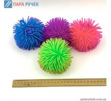 Игрушка антистресс 9-8 (12) мохнатый шарик свет