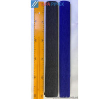 Бумага гофр. 150% Одесса чёрный,тёмно-синий