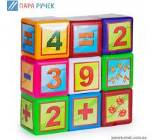 """Кубики великі арт. 020/3 """"Математика"""" Бамсік"""