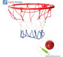 Баскетбольное кольцо М 3371 металл 22см, мяч16см, насос в кор.