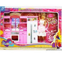 Кукла с кухней в кор. (66719)