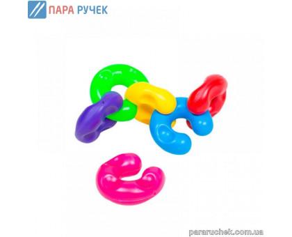 Развивающая игрушка 114/17 цепочка цветная Бамсик в кульке